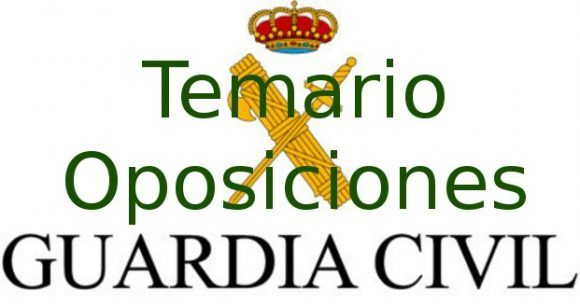 Temario Oposiciones Guardia Civil 2019