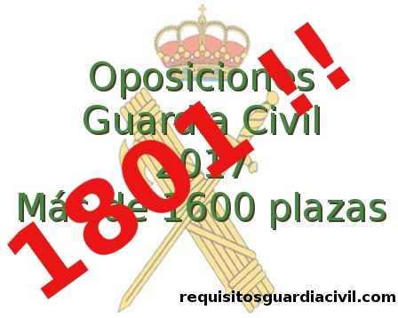 Convocatoria Guardia Civil 2017 - 1801 plazas