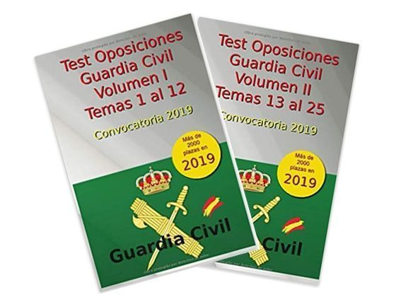 Libros Test Oposición Guardia Civil 2019