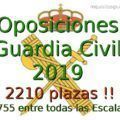 Convocatoria Oposiciones Guardia Civil 2019 - 2210 plazas