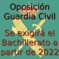 Bachillerato para ser Guardia Civil